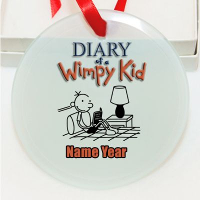 Personalized Diary of a Wimpy Kid Christmas Ornament ...