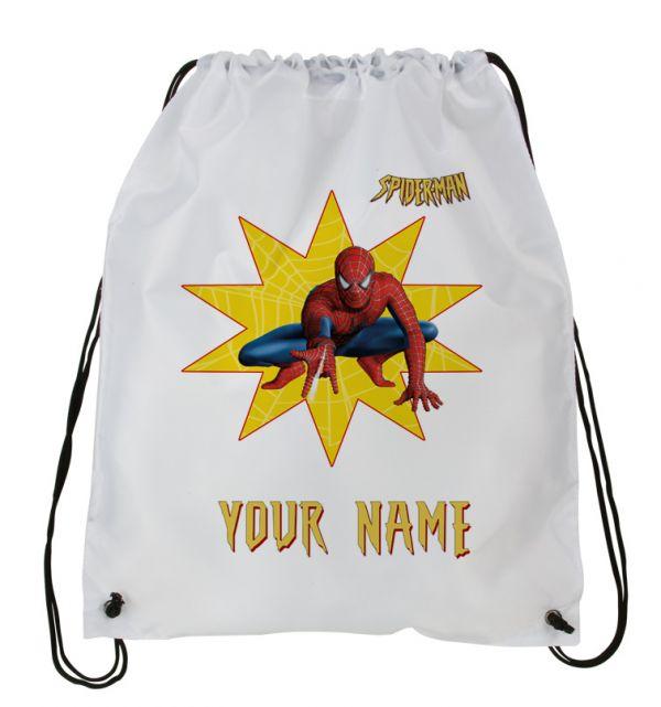 Spiderman Backpack Hockey Sports Bag Spiderman Personalized Drawstring Backpack Personalized Kids Drawstring Bag