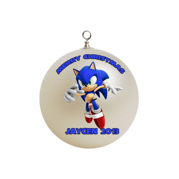 Personalized Sonic the Hedgehog Christmas Ornament